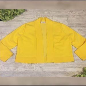 Calvin Klein Yellow Cropped Shrug